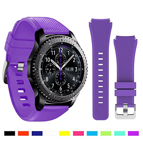 MagicGuardz, Made for Samsung Gear S3 Frontier / S3 Classic - Replacement Silicone Band Strap (Band Only) (Purple)