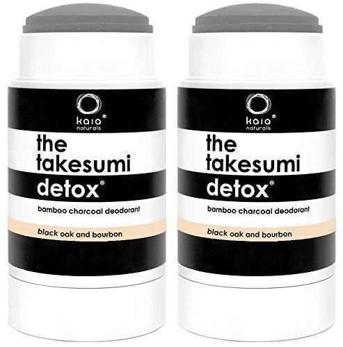 Kaia Naturals Black Oak and Bourbon Bamboo Charcoal Deodorant (Pack of 2) 2.29 oz. each