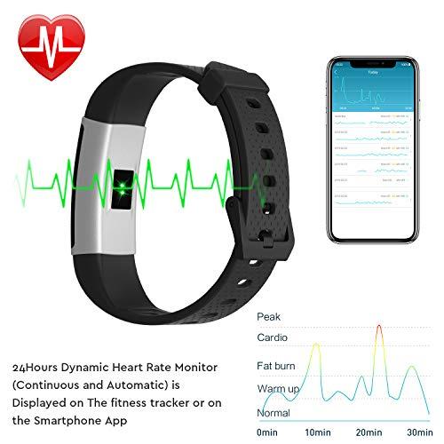 Fitpolo Montre Connectée Homme,Bracelet Connecté Femmes Podometre Cardio Enfant Smart Watch...