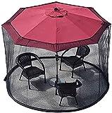 QWEEF Red de sombrillas de jardín Jardín Parasol Net Umbrella Net de poliéster con Cremallera Apertura Terraza Net para Gazebo Patio de la sombrilla de la sombrilla del jardín