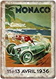 KODY HYDE Metall Poster - Monaco Automobile Race - Vintage