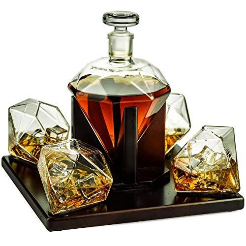 The Wine Savant Diamond Whiskey and Wine Decanter