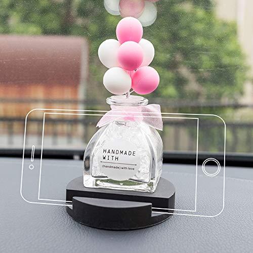 RAP Auto mobiele telefoon beugel auto telefoon houder schattige navigatie steun frame auto telefoon houder auto interieur roze witte ballon (mobiele telefoon houder)