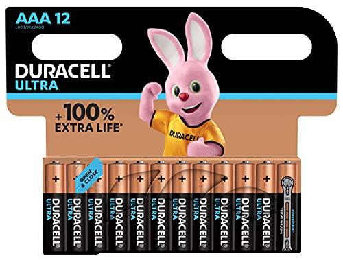 Duracell Ultra AAA Alkaline Batteries [Pack of 12]