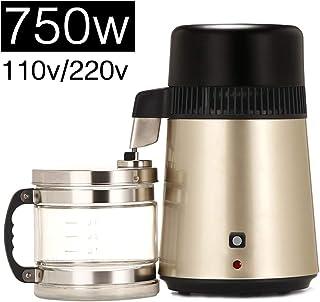 750W encimera de agua Destilación Máquina, 4L Destilador de agua 1,06 Gal (EE.UU.) interna de acero inoxidable filtro de agua pura 0,88 Gal filtro (Reino Unido) Hogar Laboratorio de agua dental,110v