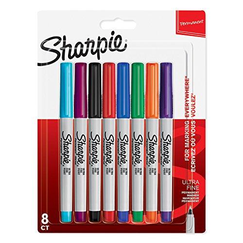Sharpie Permanent Marker   Marker Stifte mit ultra-feiner Spitze   gemischte Farben   8Stück Market Set