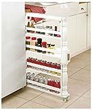 Rolling Slim CAN & Spice Rack Holder Kitchen Storage Cabinet Shelf Organization