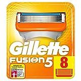 Gillette Fusion 5 Rasierklingen mit Trimmerklinge für Präzision und Gleitbeschichtung, 8 Ersatzklingen