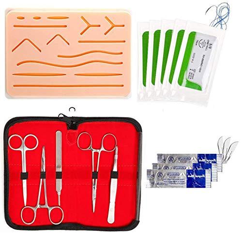 Crazyfly Kit de sutura todo incluido, práctico kit de sutura, dispositivo de entrenamiento perfecto para desarrollar y refinar técnicas de sutura