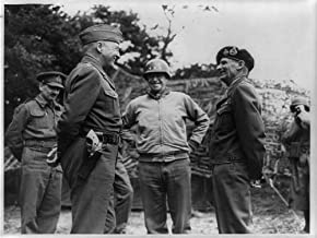 HistoricalFindings Photo: George S Patton,Omar N Bradley,Bernard Montgomery,1944