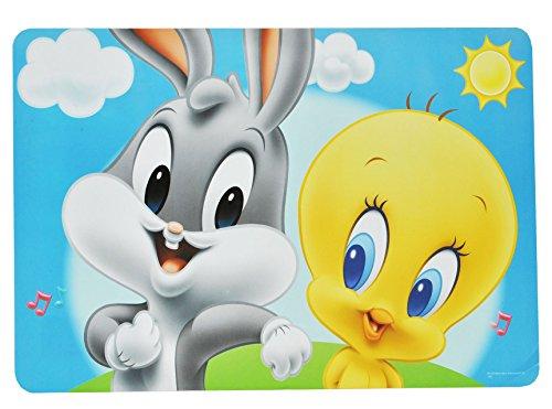 alles-meine.de GmbH Unterlage - Baby Looney Tunes Tweety und Hase - 43 cm * 29 cm - Tischunterlage / Platzdeckchen / Malunterlage / Knetunterlage / Eßunterlage - Bugs Bunny Taz T..
