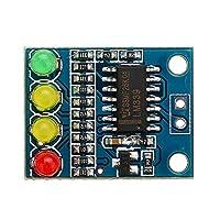 12Vバッテリーインジケータボードモジュール負荷4桁の電気表示FXD-82B