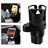 SUNMORN Multifunctional Car Cup Holder, Two in One Design, Drink Can Coffee Bottles Stand,...