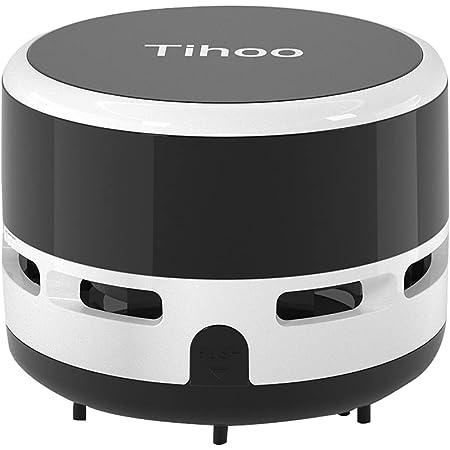 Tihoo デスクトップ掃除機 デスクトップ コンピュータキーボード 家具の表面 車の座布団 ミニ掃除機 (黒)