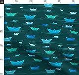 Origami, Faltpapier, Schiff, Oberfläche, Blau, Kind,