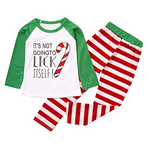 Lowest Price! FengGa Matching Holiday Christmas Family Matching Pajamas Set 2 Pieces Sleepwear for T...
