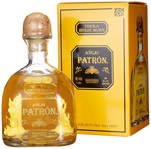 Patrón Patrón Tequila Añejo 40%, Volume 1 l in Geschenkbox