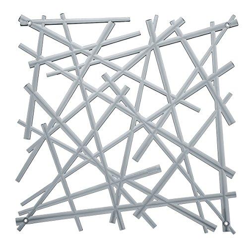 koziol Raumteiler  Stixx,  Kunststoff, transparent anthrazit, 0.4 x 27.2 x 27.2 cm