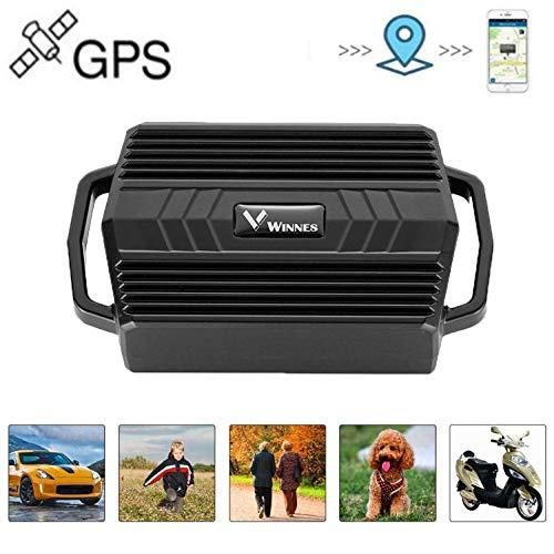 Rastreador GPS, Winnes Rastreador GPS magnético Fuerte Monitoreo en Tiempo Real Localizador GPS Anti-pérdida Larga Espera para Vehículo Coche con Gratis App (Coche)