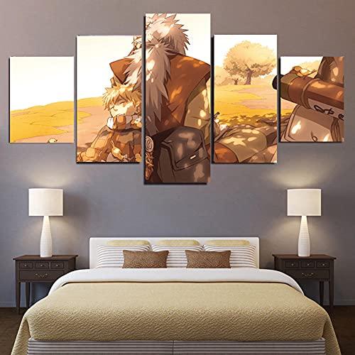 Impresión HD 5 imágenes anime manga personajes de dibujos animados obra de arte lienzo pintura naruto mural decoración del hogar-B_M:_10X15-2P_10X20-2P_10X25-1P