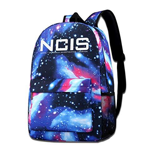 Galaxy bedruckte Schultertasche NCIS Team 2 Fashion Casual Star Sky Rucksack für Jungen und Mädchen