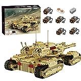 Mocdiy Técnica Mammutpanzer Bausteine, Mould King 20011, 2.4Ghz/APP RC Militär Panzer modelo, 3296 + piezas MOC, juego de construcción de bloques de montaje, compatible con Lego Technic