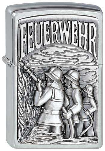Zippo 2.000.854 Feuerzeuge Feuerwehr Emblem - Chrom gebürstet