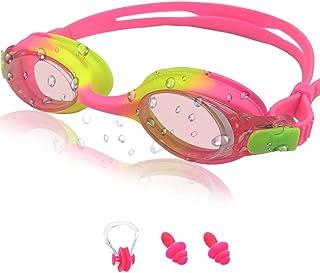 Zwembril voor kinderen, anti-condens, lekvrij, waterdicht, zachte siliconen kinderzwembril, in grootte verstelbaar, premiu...