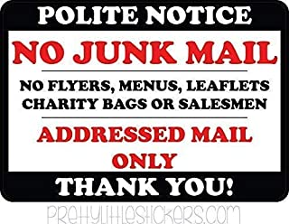 Interesting Sign,No Junk Mail Flyers Leaflets Menus Metal Signs Vintage Metal Tin Sign Wall Plaque Outdoor Indoor Funny Door Tin Plate 20x30 cm,Collectible Wall Art
