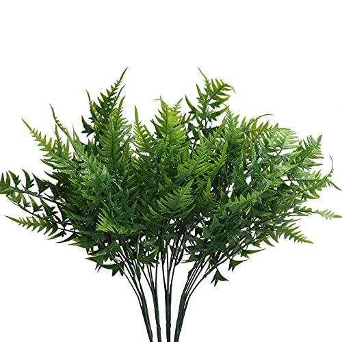 DWANCE 4PCS Fougères Artificielles Extérieure Plante Artificielle Faux Arbustes Artificiels Fausse Plante Fougere en Plastique Decoration pour Interieur Jardin Maison