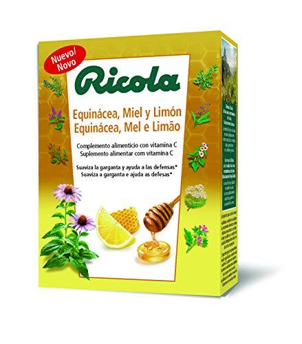 Ricola caramelos - caja/estuche defensas 50g, sabor equinacea, miel y limón