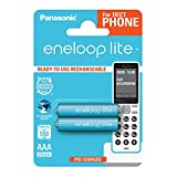 Panasonic Eneloop Bk-Bk-4Lcce/2De Lite Ready To Use Ni-MH, Ricaricabile AAA Micro, 2.Confezione Da, 550.Mah, 3.000.Cicli di Ricarica Azzurro