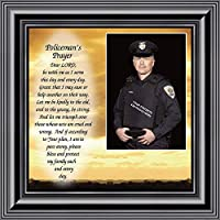 Policemans Prayer, Personalized Picture Frame Gifts for Men Police Officer, Gifts for Cops, 10x10 6594B [並行輸入品]