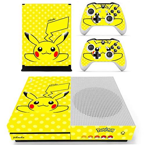 Photo of Adventure Games – XBOX ONE S – Pokemon, Pikachu – Vinyl Console Skin Decal Sticker + 2 Controller Skins Set