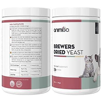Animigo Levure de Bière en Poudre pour Chien et Chat - 454 g 100% Naturelle – Goût Poulet