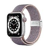 Netolo Solo Loop Compatibile con Cinturini Apple Watch 44mm 42mm 40mm 38mm, Cinturino in Nylon Sportivo Compatibile con Apple Watch SE iWatch Watch Cinturino Series 6 5 4 3 2 1, 42mm/44mm Rosa