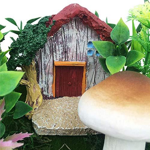 musykrafties Figurine rustique en résine de 7,9 cm, lutin ou lutin ou gnome miniature, terrarium, jardin féérique, maison de poupée, décoration d'aquarium, rouge