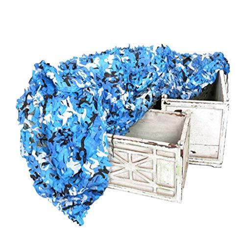 Voile D'ombrage pour Piscine, 6m 8m 10m Filet Camouflage Auvent Filet Ombrage Jardin Écran Solaire Maille Tente Tissu Oxford pour Clôture Chambre d'enfant Plafond Décoration Camping Extérieur Bleu