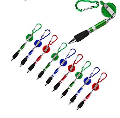 Kugelschreiber mit Zip - Karabiner - zum befestigen -umhängen aufhängen - Stift halterung, Bedinung, Kellner, Geocaching Kugelschreiber lanyard schlüsselband befstigung (3)