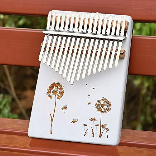 GUOQING SFFSM Körper-Musical-Instruments Tragbare 17 Keys Kalimba Weiß Daumenklavier Sound Board Tuning Ton Anfänger Eintrag Instrument Klavier (Farbe : Kalimba Bag)