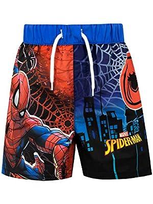 Marvel Boys' Spiderman Swim Shorts Multicolored Size 4