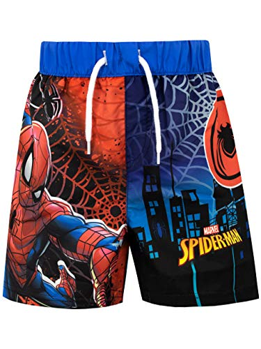 Marvel Costume da Bagno per Ragazzi a Due Pezzi Spiderman Multicolore 8-9 Anni
