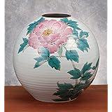 九谷焼 8号花瓶 牡丹 :山田龍山