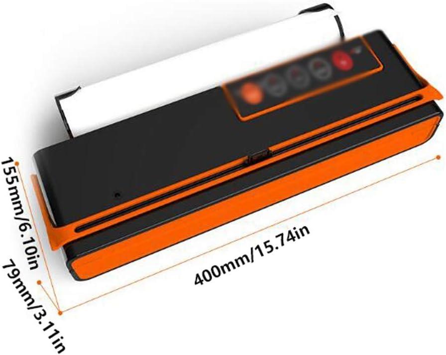 JHEY Appareils de Mise sous Vide en Plastique avec Groove étanche Machine d'emballage Automatique Ménage Commercial Alimentaire Scellant (Color : White) Black