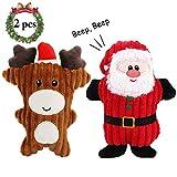 Legendog Jouets de Noël de Chien, 2PCS Jouet de Chien grinçant/Jouets de Noël pour Les Chiens mâchent et Jouent