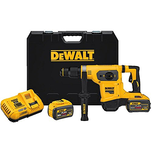 DEWALT FLEXVOLT 60V MAX Rotary Hammer/Drill Combination Kit, 1-9/16-Inch (DCH481X2)