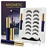 EyeLash Magnetic Eyelashes with Eyeliner Natural Look Kit .Waterpoof Eyeliner Magnetic Eyelashes for Women.7 Pairs Upgraded 5D Reusable Magnetic Lashes with Eyeliner Set .Easy to Use & Clean.