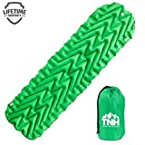 Pet Outdoors Inflating Lightweight Sleeping Pad with 2 Air Chambers Compact Size Inflatable Air Mat