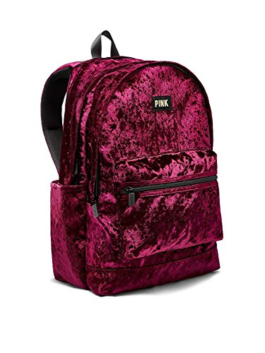 Victoria's Secret Pink NEW! VELVET CAMPUS BACKPACK Ruby