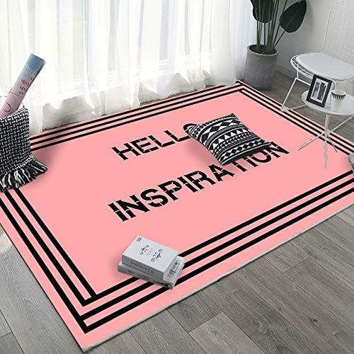 YUANDAKEJI Alfombras y tapetes Estampados de Color Rosa Estera de Noche Estera de Yoga Esterilla de baño Absorbente Antideslizante Decoración del hogar Sala de Estar Dormitorio, Style7